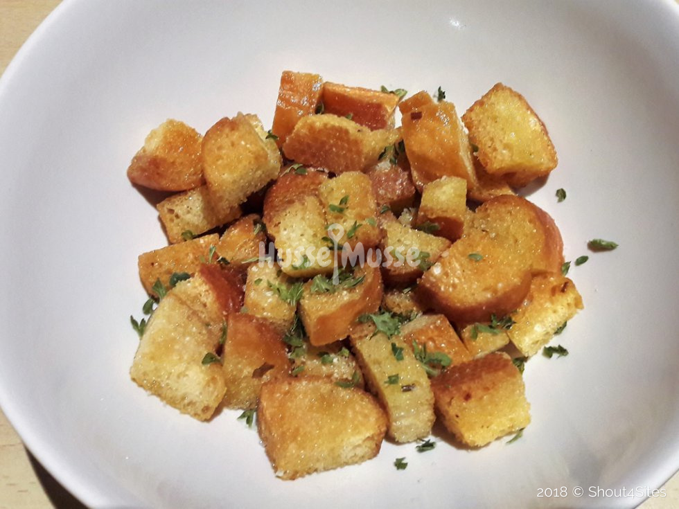 Knoflook Croutons